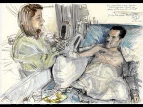 Illustrating for the International Society of War Artists: Victor Juhasz at TEDxScottAFB