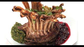 Корона из бараньих ребрышек с баклажанами | Мясо. От филе до фарша