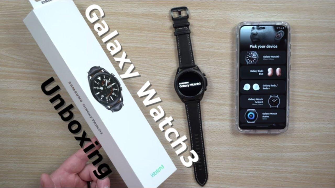 Samsung Galaxy Watch3 - Unboxing   45mm Mystic Black