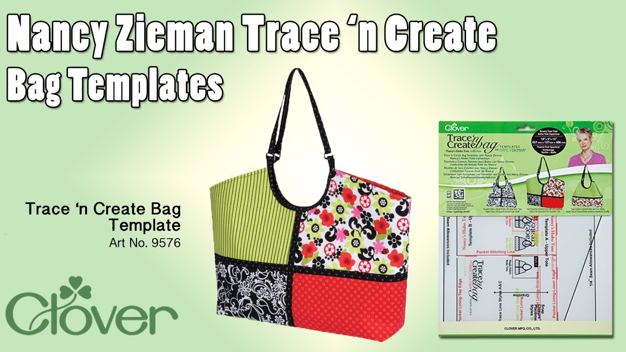 tool school nancy zieman hobo tote bag template youtube