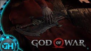 Kratos indo pegar as lâminas do caos
