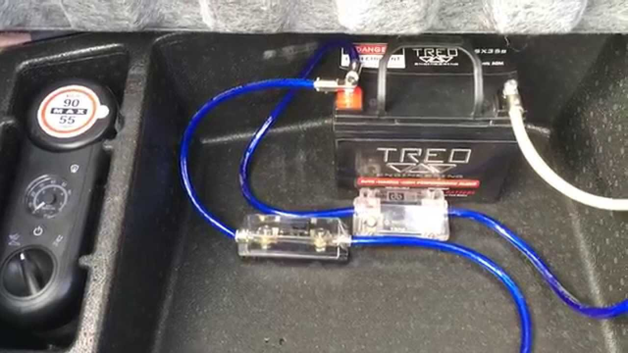 [SCHEMATICS_49CH]  Installation: Second Battery for Car Audio - Custom 2010 Dodge Challenger  SRT8 - YouTube | Car Audio Wiring Subwoofer |  | YouTube