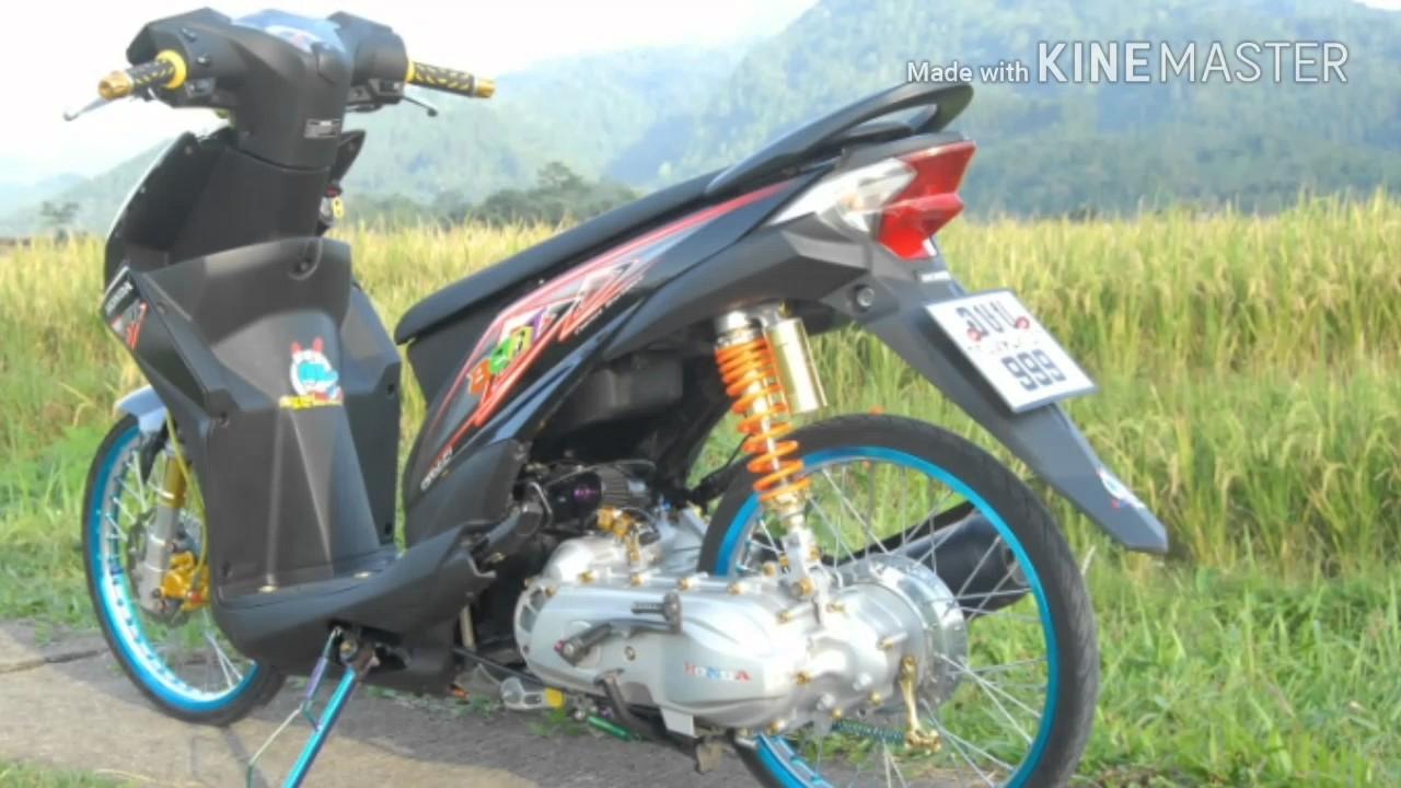 Modifikasi Motor Honda Beat Hitam Terunik