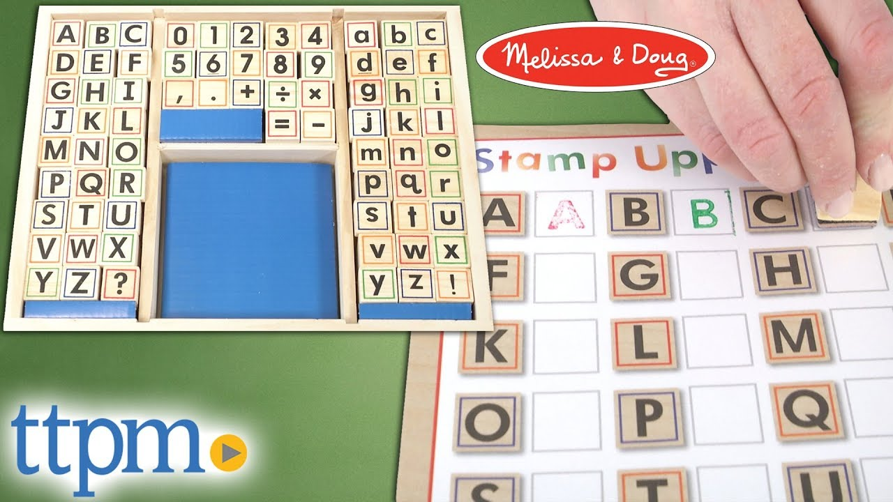 Deluxe Wooden Stamp Set Abcs 123s From Melissa Doug