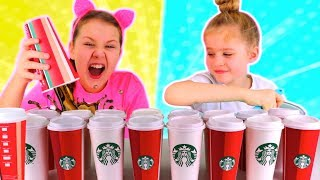 Don't Choose the Wrong Starbucks Slime Challenge!!