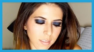 Maquillaje en azul y negro - Blue and black smokey eyes makeup tutorial por Laura Agudelo