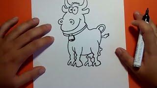 Como dibujar una vaca paso a paso 3 | How to draw a cow 3