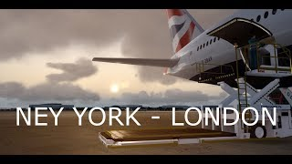 Prepar3D V4.1: New York to London Boeing 777 - 200 Part 1