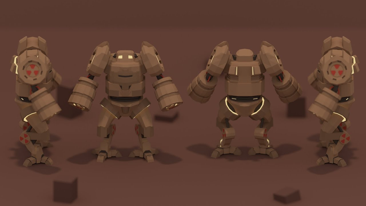 PigArt BLENDER Low Poly Mech Thoughts while making
