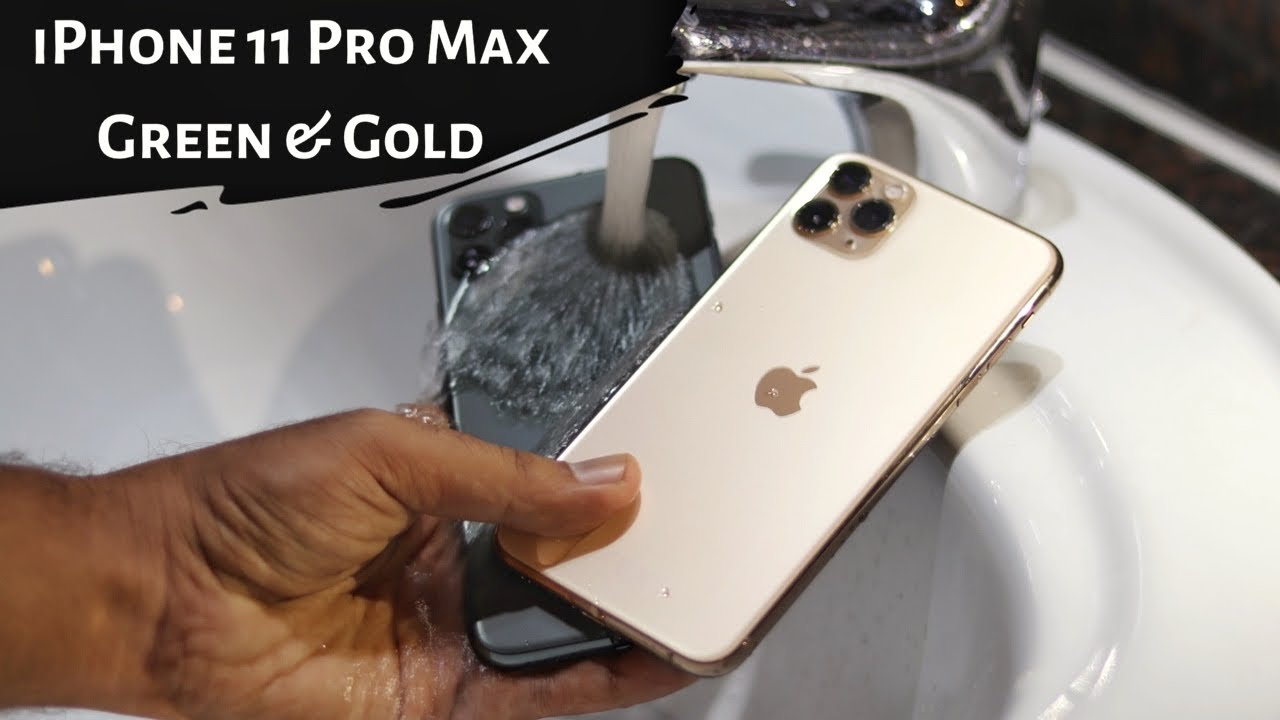 iPhone 11 Pro Max unboxing \u0026 water test