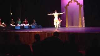 Classical Indian dance. Masters diploma in art academy. Alarippu.