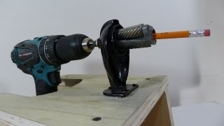 High performance pencil sharpener