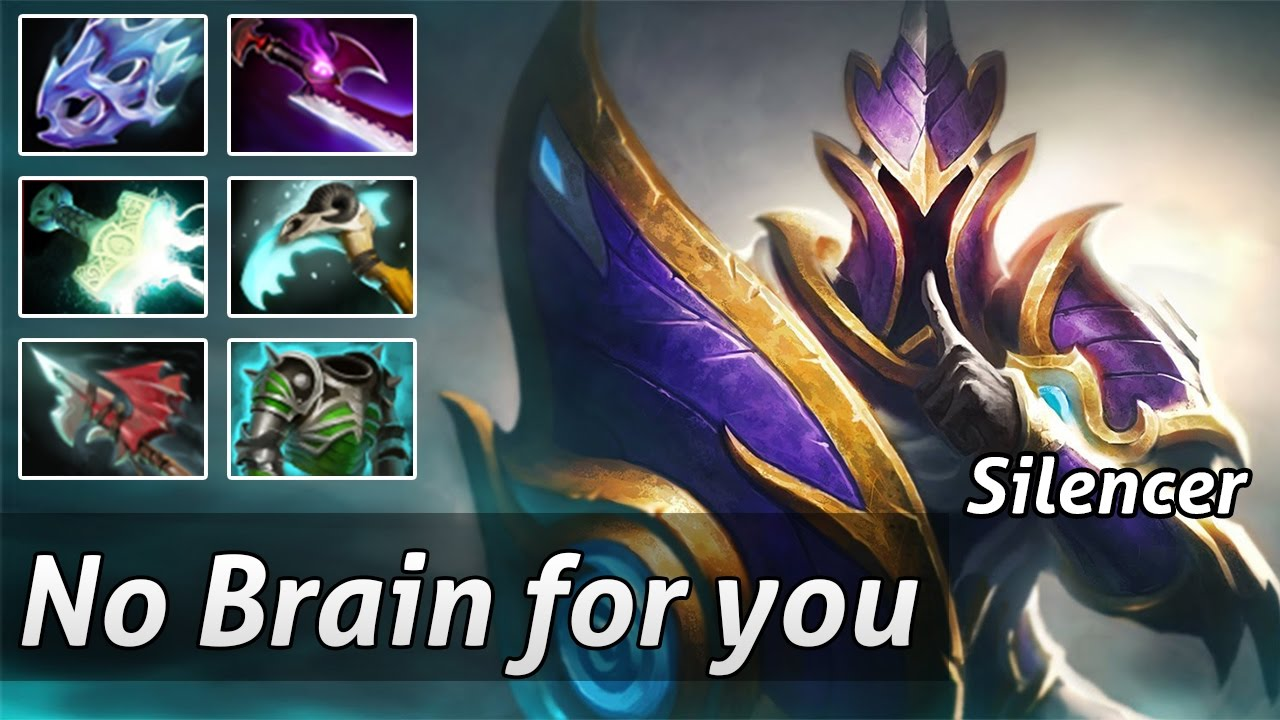 silencer pro build carry by no brain for you gameplay dota 2 youtube