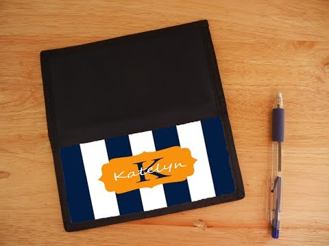 Personalized Checkbook Cover | Monogrammed Checkbook Covers-Full Digital Image Quality.