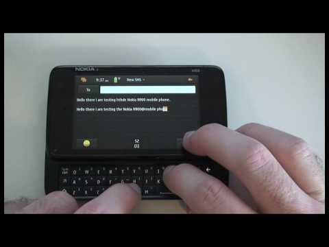 Nokia N900 Mobile Phone - part 3 - Internet Browser and SMS Texting