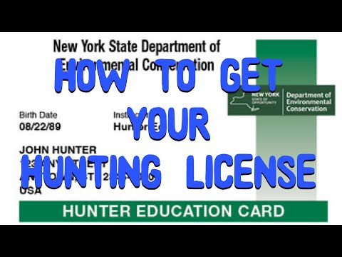 How To Get Your Hunting / Bow Hunting License In NY
