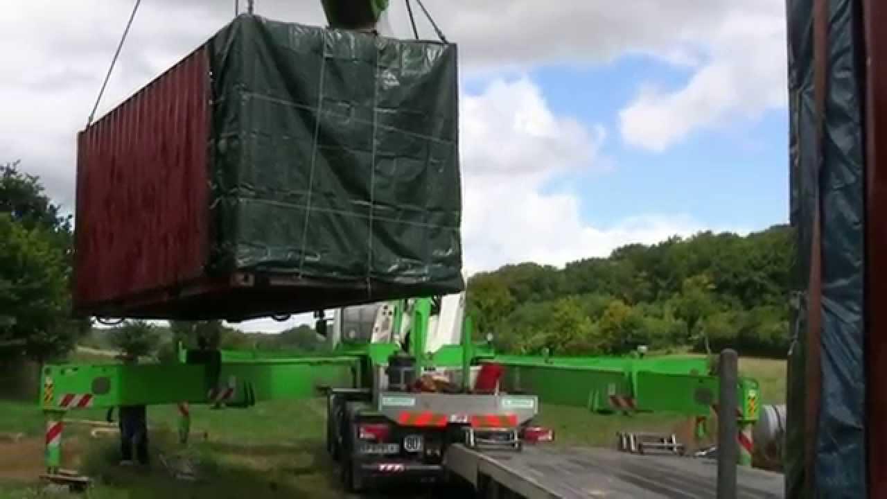D pannage wibault levage de containers quip s pour for Habitation contener
