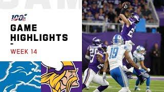 Lions vs. Vikings Week 14 Highlights