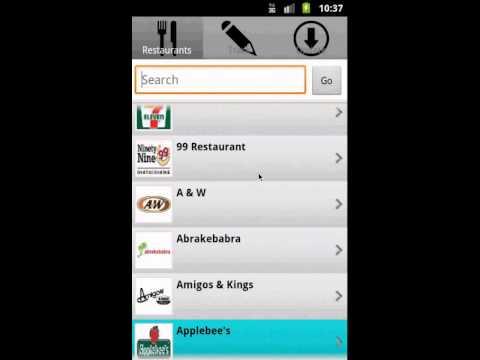 Restaurant Weight Loss Tracker Android App