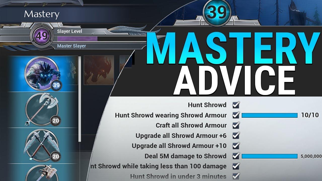 Mastery Progression Tips - Slayer Mastery, Behemoth Mastery, Weapon Mastery  - Dauntless Patch 0 7 2