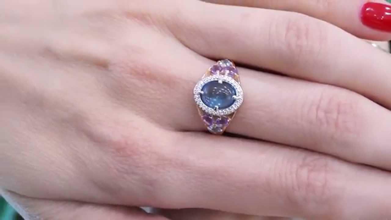 Поволвочное кольцо с бриллиантом 1gold.by - YouTube