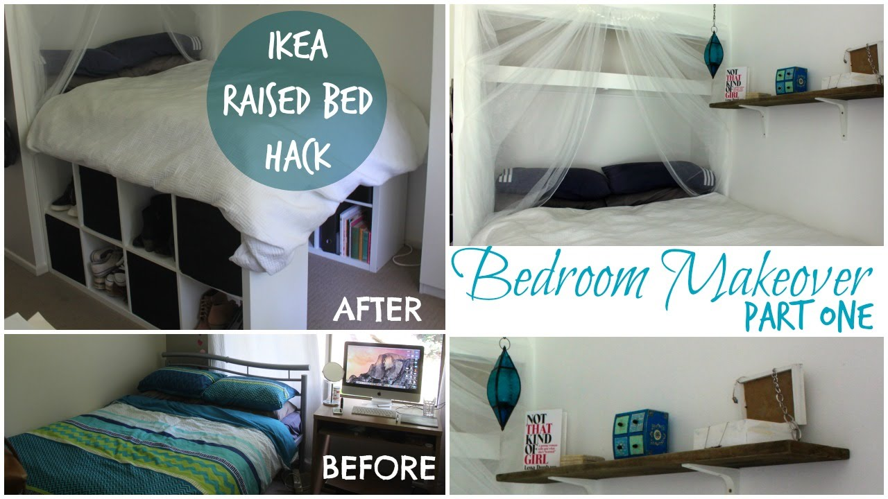 DIY IKEA PLATFORM BED Made From Kallax/Expedit Bookcase! | Chelsea Mason    YouTube