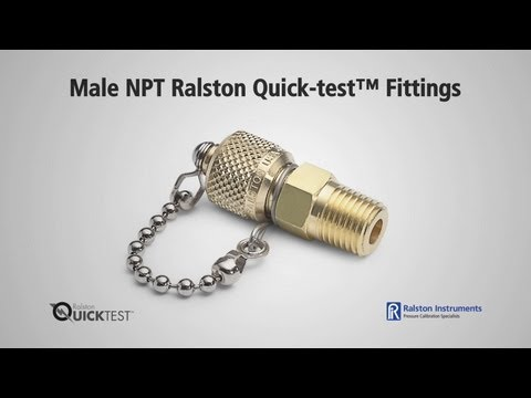 NPT Male Quick-test Fittings