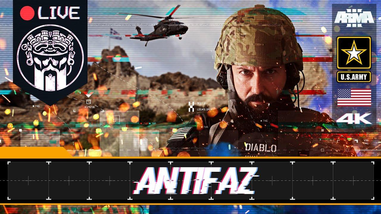 OPERACIÓN MULTICLANES ANTIFAZ - ARMA3 4K - US ARMY - SQUAD ALPHA & GRUPO PHOENIX - DIABLO HELMETCAM