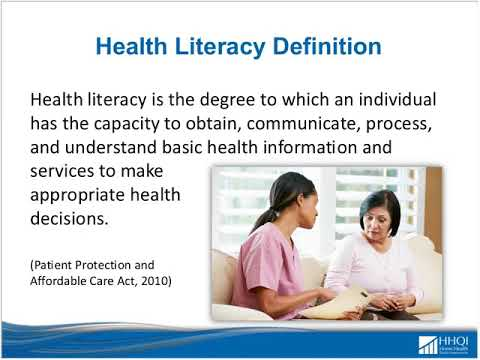 Actions To Improve Health Literacy