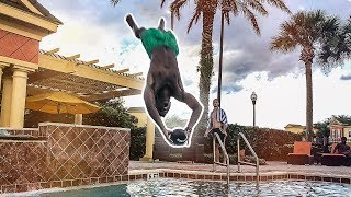 ANTONIO BROWN WOULD DROP THESE! (POOL DIVING CATCH H-O-R-S-E)
