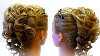 Свадебная прическа с ободком/Прическа невесты/Мастер-класс🎈 Wedding hairstyle for long hair