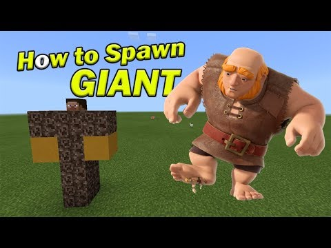 How to Spawn a GIANT | Minecraft PE