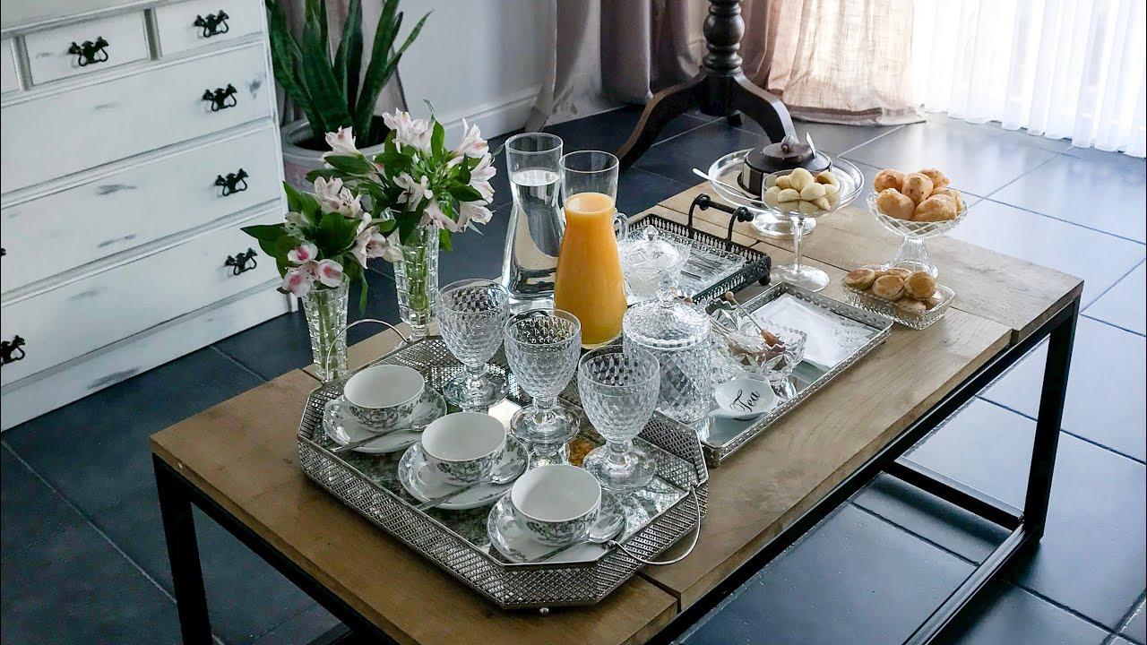 Como montar a mesa de centro pro caf ou ch da tarde