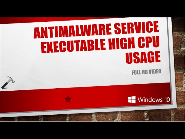 Solved Antimalware Service Executable High Cpu Usage Youtube