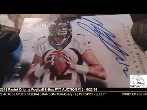 2016 Panini Origins Football 8-Box PYT AUCTION #15 - 9/23/16