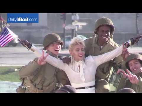 Paris Jackson poses with soldiers for Channel shoot - Paris, France