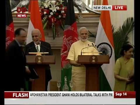 Signing of agreements between India and Afghanistan
