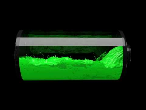 Battery Charging CG Liquid Simulation