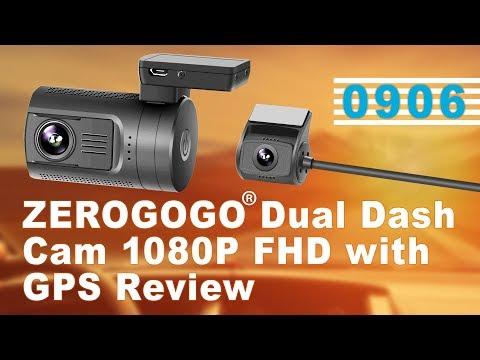 ZEROGOGO MiNi 0906 Dual Dash Cam 1080P FHD With GPS