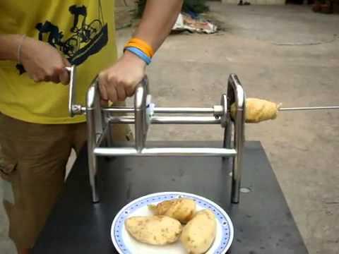 Máy cắt khoai tây dạng vòng. http://hoangtung.vn