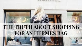 One of Iam CHOUQUETTE's most viewed videos: THE TRUTH ABOUT SHOPPING FOR A HERMES BAG | HERMES KELLY STRUGGLE