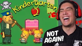 WE PLAYED A MESSED UP VERSION OF HOUSE WITH CINDY & SHE CALLED THE COPS ON US | Kindergarten 2 [6]