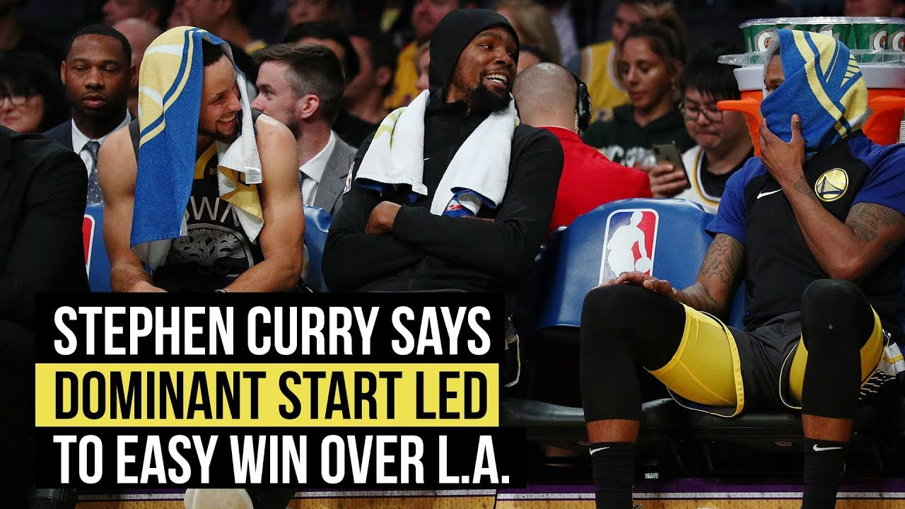 Stephen Curry says dominant first quarter propelled Warriors to win