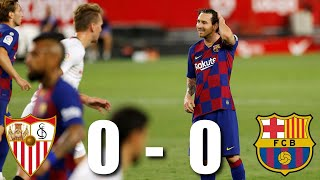 Sevilla and barcelona played out a goalless draw at the ramon sánchez-pizjuán on friday night - leaving barça in tricky position top of la liga ...