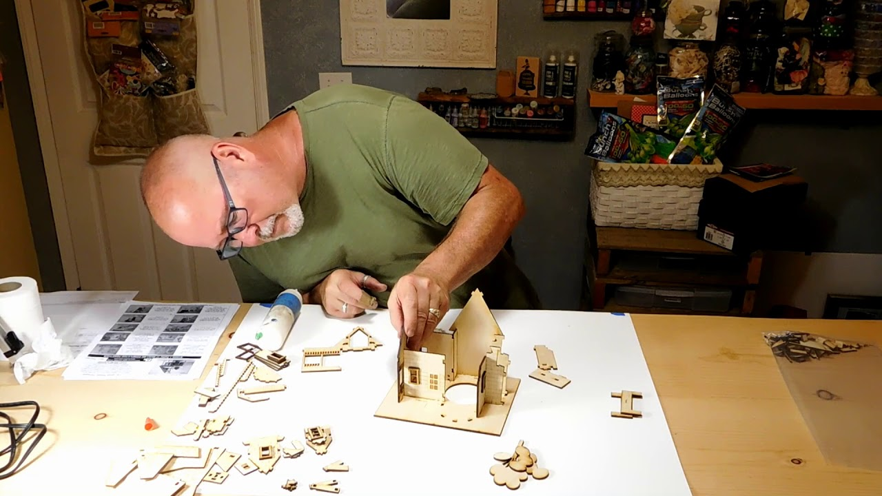 Wooden Model Up And Away House Kit By Lazermodels Wood Models You Build