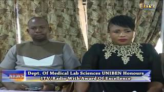 Department Of Medical Lab Sciences UNIBEN Honours ITV/Radio With Award Of Excellence