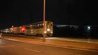 2/17/18 455amtrak clip: Amtrak Pacific Surfliner #583 passes with PV Silver Splendor on rear
