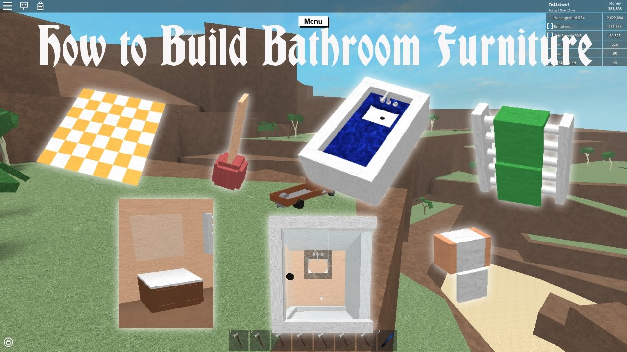 Lumber Tycoon 2 How To Build Bathroom Furniture Youtube