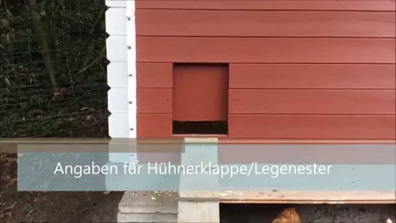 automatische h hnerklappe und legenester youtube. Black Bedroom Furniture Sets. Home Design Ideas