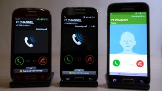 Samsung Galaxy S3 mini S4 mini S5 mini Incoming Call